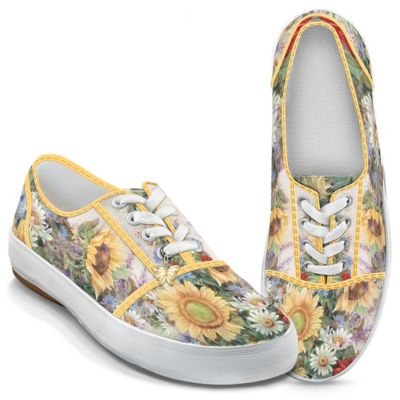 Lena Liu Sunflower Splendor Canvas Sneakers by