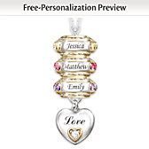 Forever In A Mother's Heart Personalized Pendant Necklace