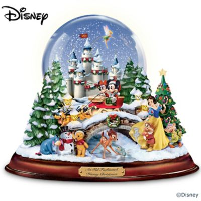An old fashioned disney christmas musical snowglobe showcasing 13 classic characters - Disney weihnachtskugeln ...