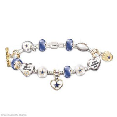 Dallas Cowboys Charm Bracelet With Swarovski Crystals by