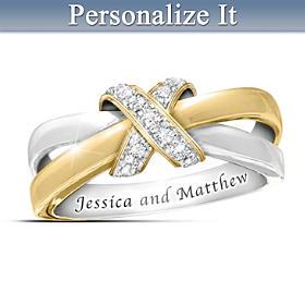Eternity's Kiss Diamond Personalized Ring