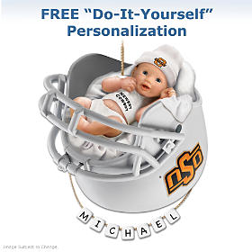 OSU Cowboys Personalized Baby's First Ornament