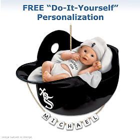 Chicago White Sox Personalized Baby's First Ornament