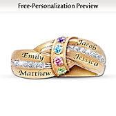 A Mother's Embrace Personalized Birthstone Ring