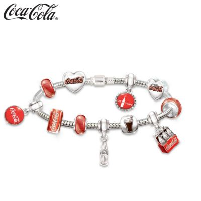 Anniversary Coca-Cola Bracelet With Interchangeable Charms by