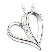 My Daughter, My Heart, My Love Diamond Pendant Necklace