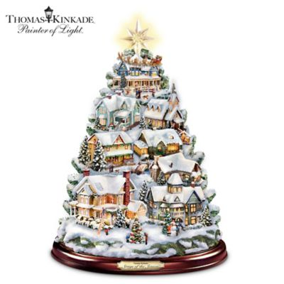 - Thomas Kinkade Christmas Tabletop Tree: Songs Of The Season