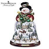 Thomas Kinkade Wondrous Winter Snowman Snowglobe