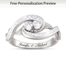 Always Together In Love Personalized Ring