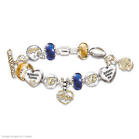 Go Ravens! #1 Fan Charm Bracelet