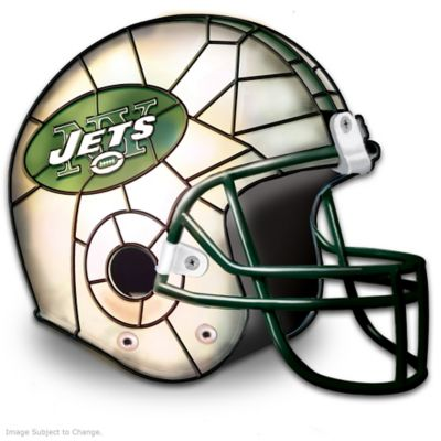 New York Jets Football Helmet Accent Lamp by