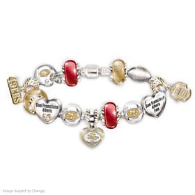 Go 49ers! #1 Fan Charm Bracelet
