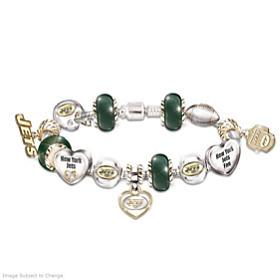 Go Jets! #1 Fan Charm Bracelet
