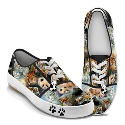 Canvas Sneakers Feature Wildlife Art Of John Seerey-Lester by
