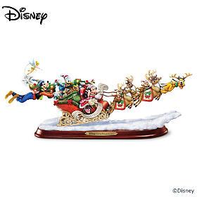 Disney Dashing Through The Snow Sculpture
