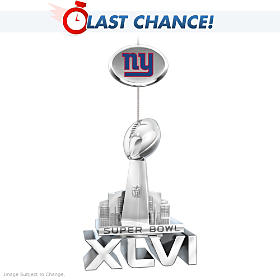 Giants Super Bowl XLVI Championship Ornament