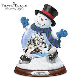 Thomas Kinkade Sno' Much Fun Snowglobe