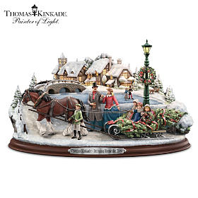 Thomas Kinkade Bringing Home The Tree Sculpture