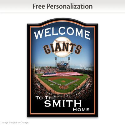 San Francisco Giants Welcome Sign Personalized With Name by