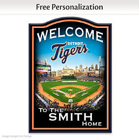 Detroit Tigers Personalized Welcome Sign