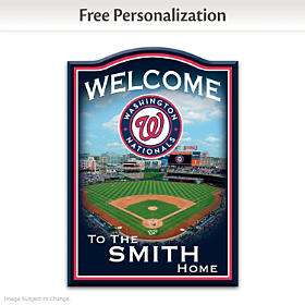 Washington Nationals Personalized Welcome Sign