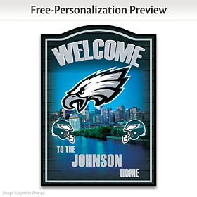 Philadelphia Eagles Personalized Welcome Sign