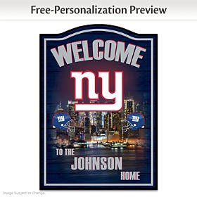 New York Giants Personalized Welcome Sign