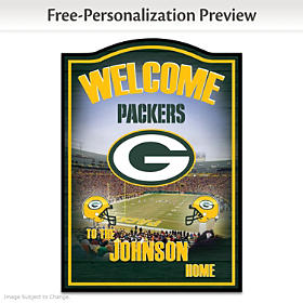 Green Bay Packers Personalized Welcome Sign