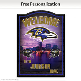 Baltimore Ravens Personalized Wall Decor