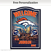 Denver Broncos Personalized Welcome Sign