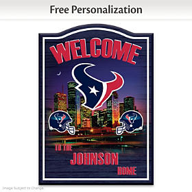 Houston Texans Personalized Welcome Sign