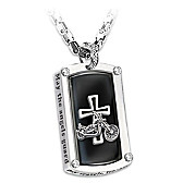 Biker's Blessing Pendant Necklace