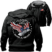 Home Of The Brave Men's Hoodie