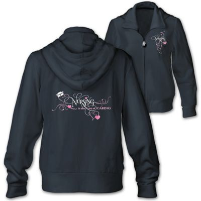 Embroidered Women's Hoodie Honoring Nurses by