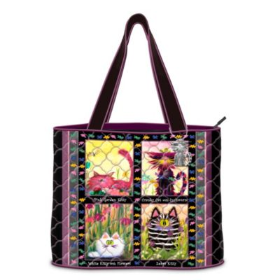 Cranky Cats Tote Bag With Cynthia Schmidt Artwork by