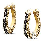 Black Beauty Diamond Earrings