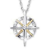 Light Of Faith Diamond Pendant Necklace