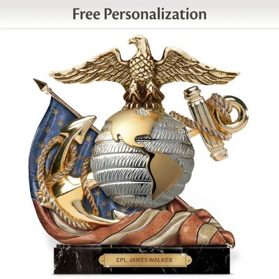 USMC Eagle, Globe And Anchor Personalized Sculpture by