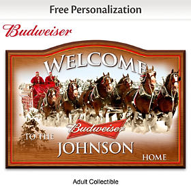Budweiser Personalized Welcome Sign