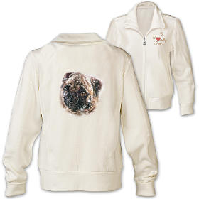 Doggone Cute Pug Women's Jacket