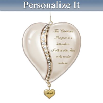 Personalized Locket-Style Porcelain Remembrance Ornament by