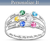 My Family, My Pride, My Joy Personalized Ring