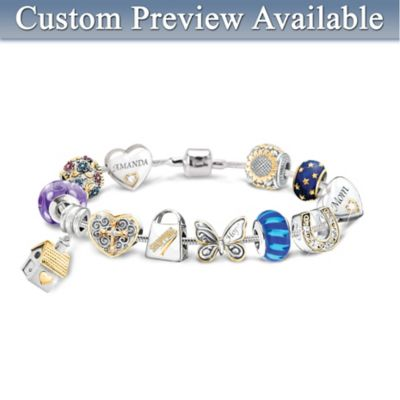 Create Your Own Charm Bracelet: 1 Name Charm, Plus 11 More by