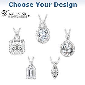 Diamonesk Pendant Necklace