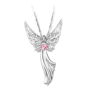 Angel Of Hope Pendant Necklace