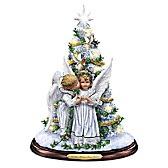 Mistletoe Kisses From Heaven Tabletop Tree
