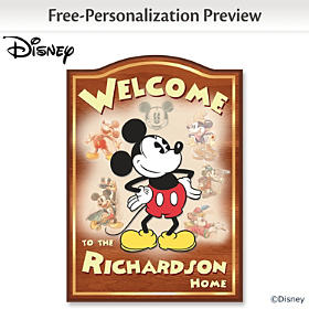 Disney Mickey Mouse Personalized Welcome Sign