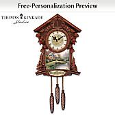 Thomas Kinkade Timeless Moments Personalized Cuckoo Clock