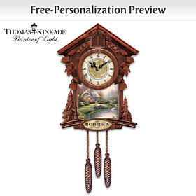 Thomas Kinkade Timeless Moments Personalized Cuckoo Clock