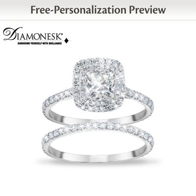 Create Your Personalized Diamonesk Bridal Ring Set by